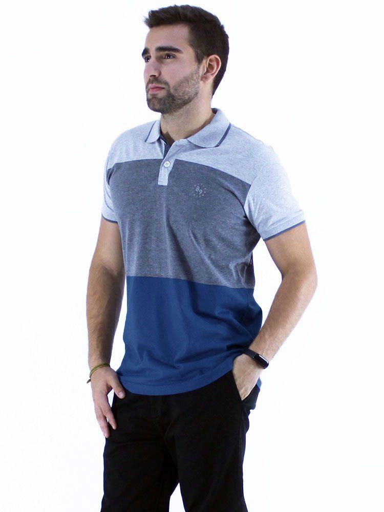 Camisa Polo Anistia Slim Fit Colors Mescla
