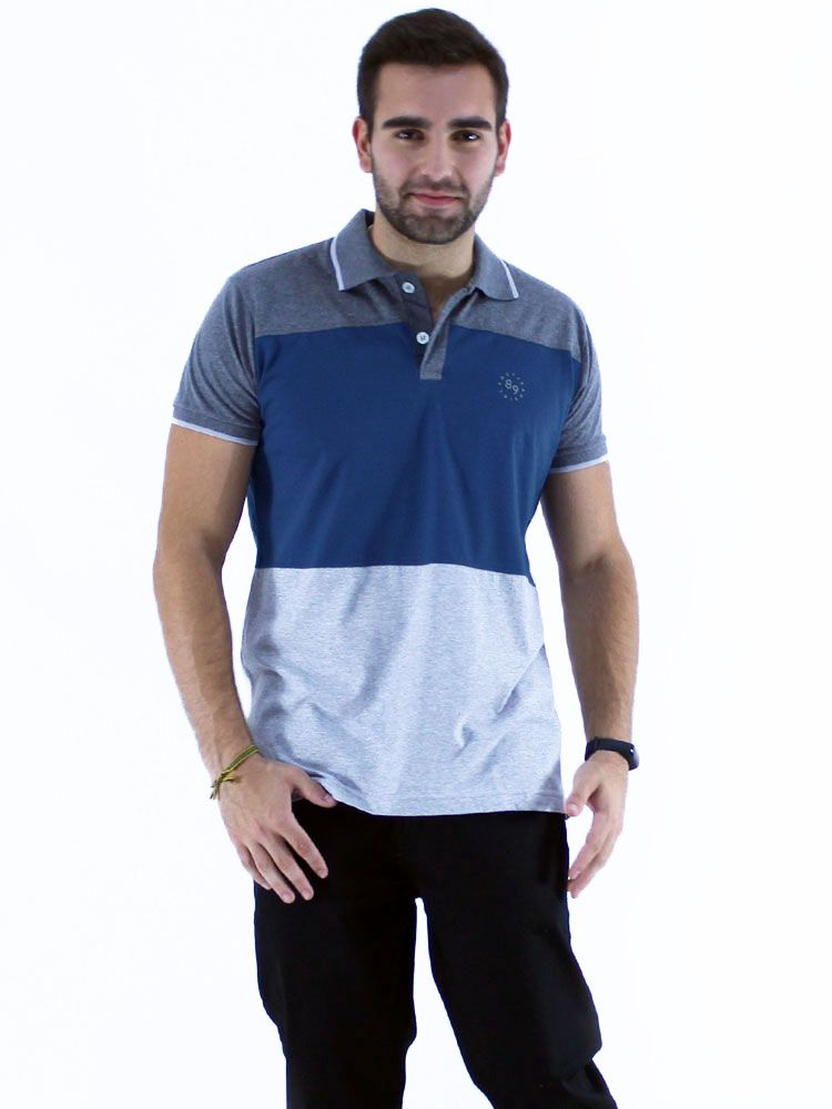 Camisa Polo Anistia Slim Fit Colors Mescla Escuro
