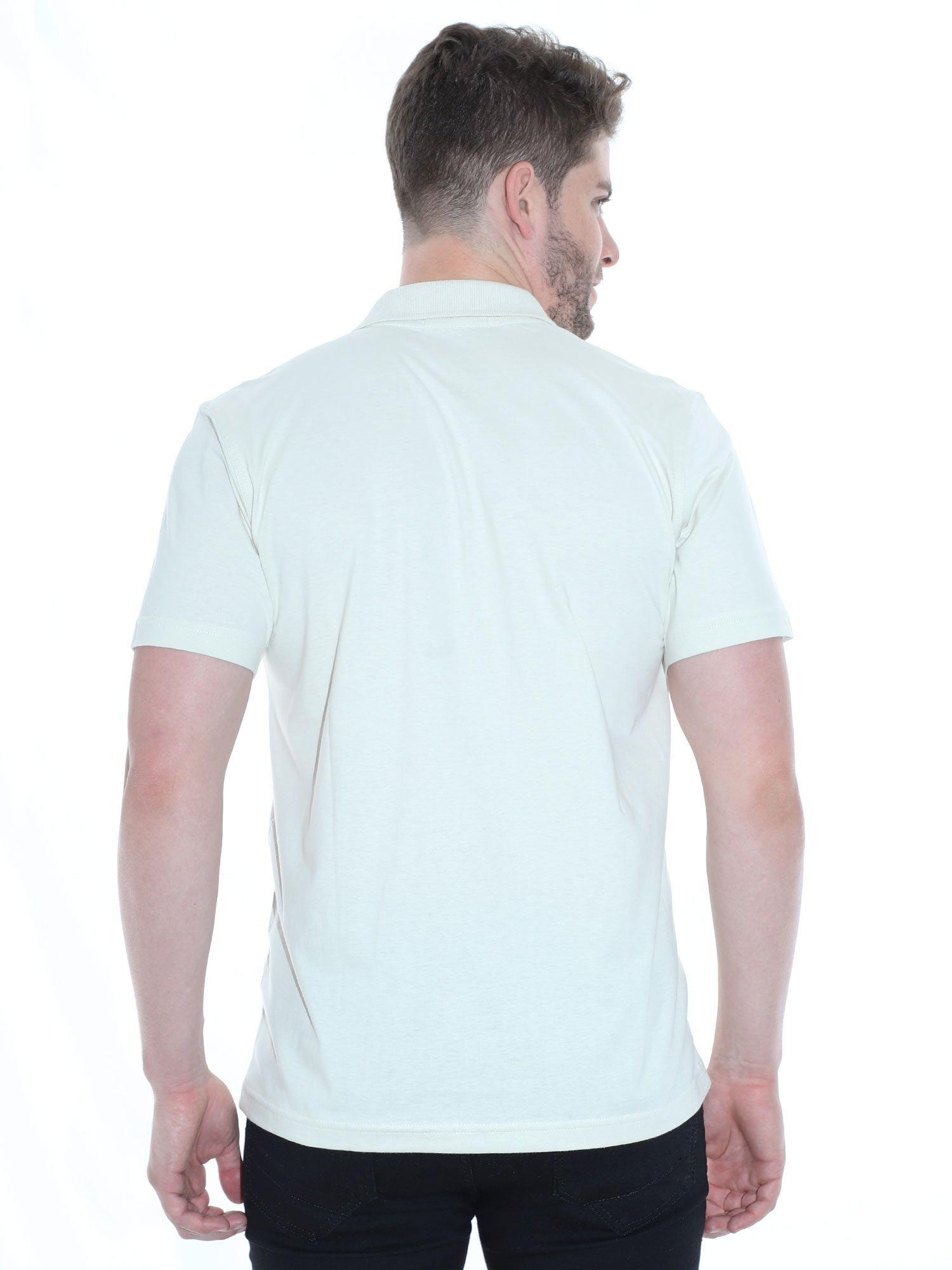 Camisa Polo Básica Lisa Anistia Areia