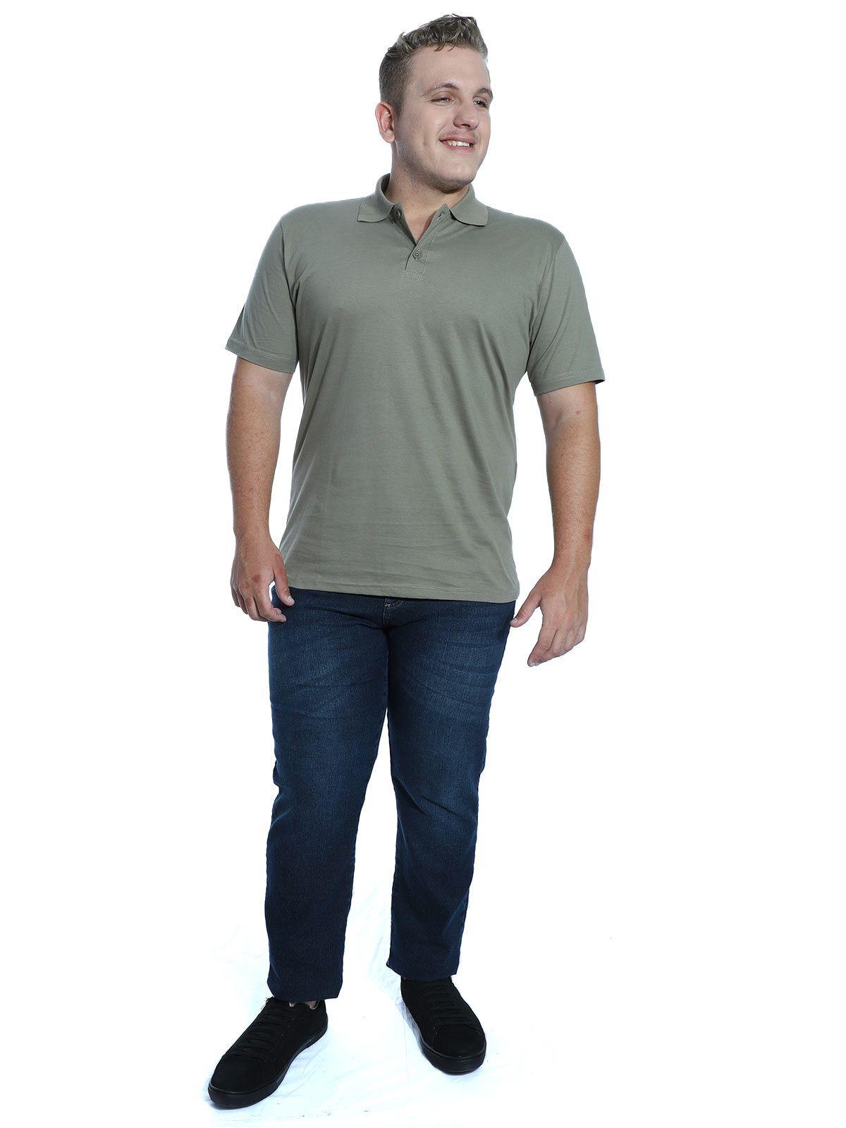Camisa Polo Básica Lisa Anistia Bambu