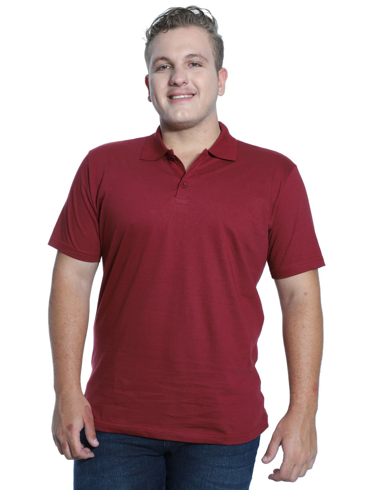 Camisa Polo Básica Lisa Anistia Bordo