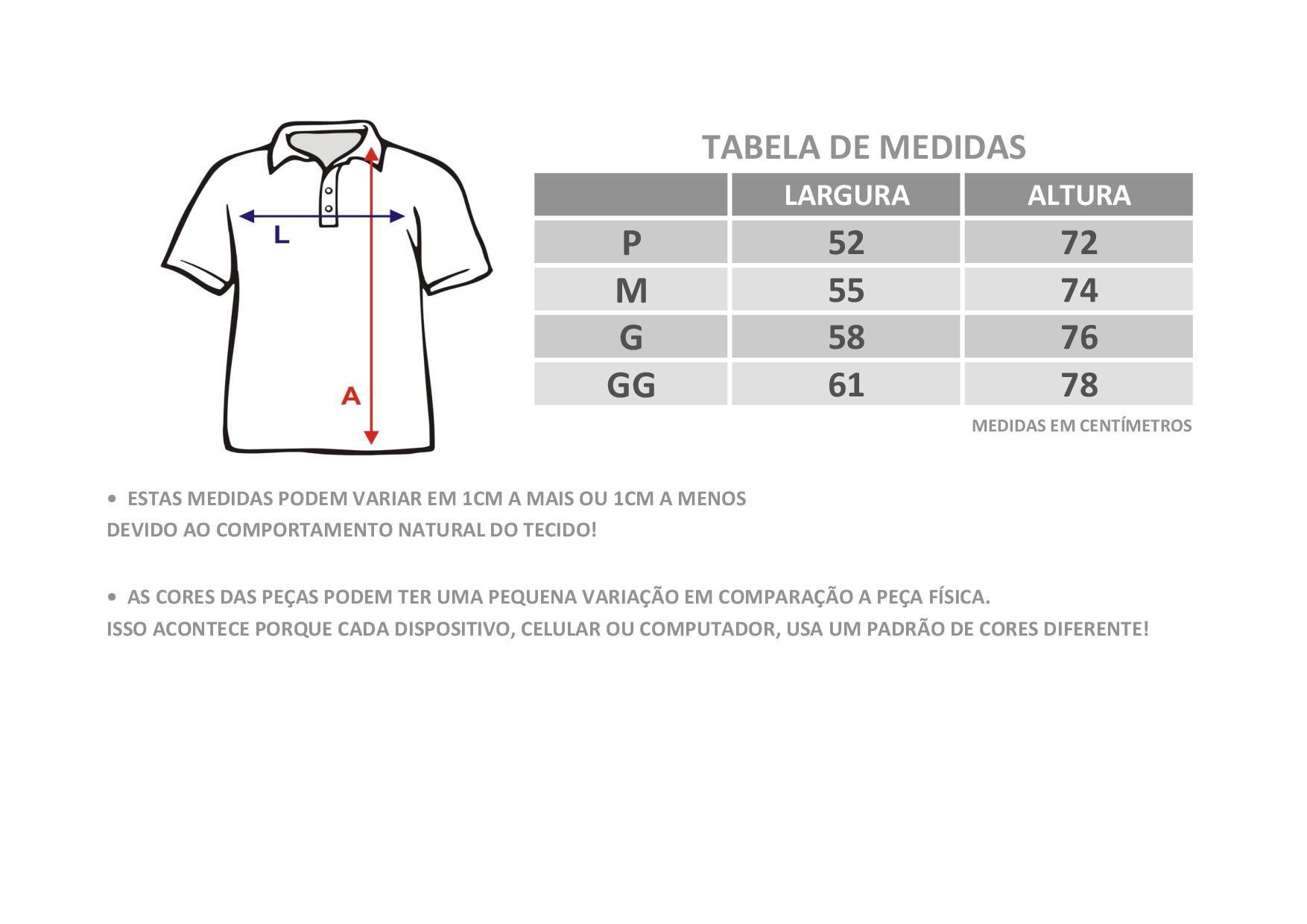 Camisa Polo Básica Lisa Anistia Bordo