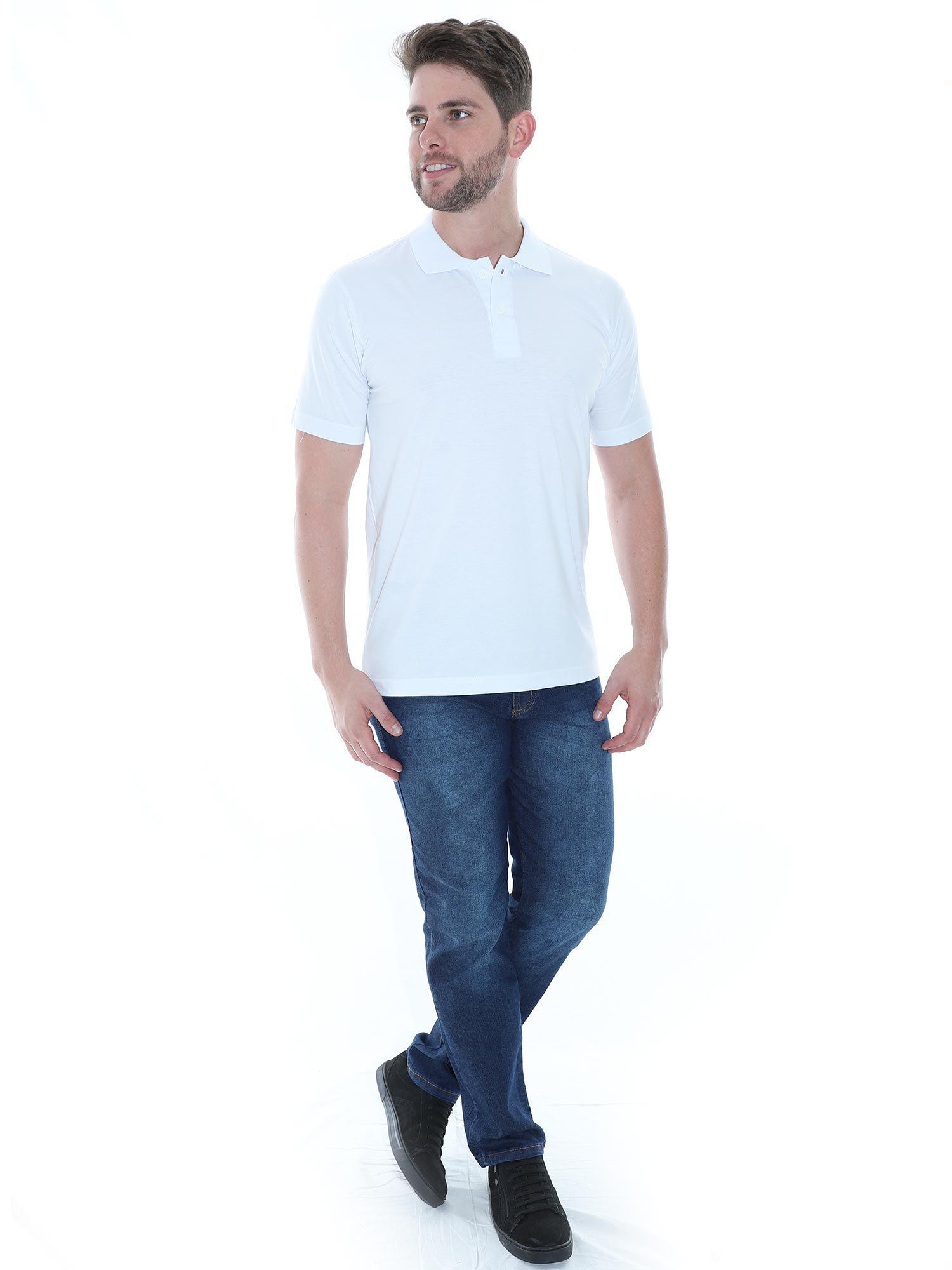 Camisa Polo Básica Lisa Anistia Branca