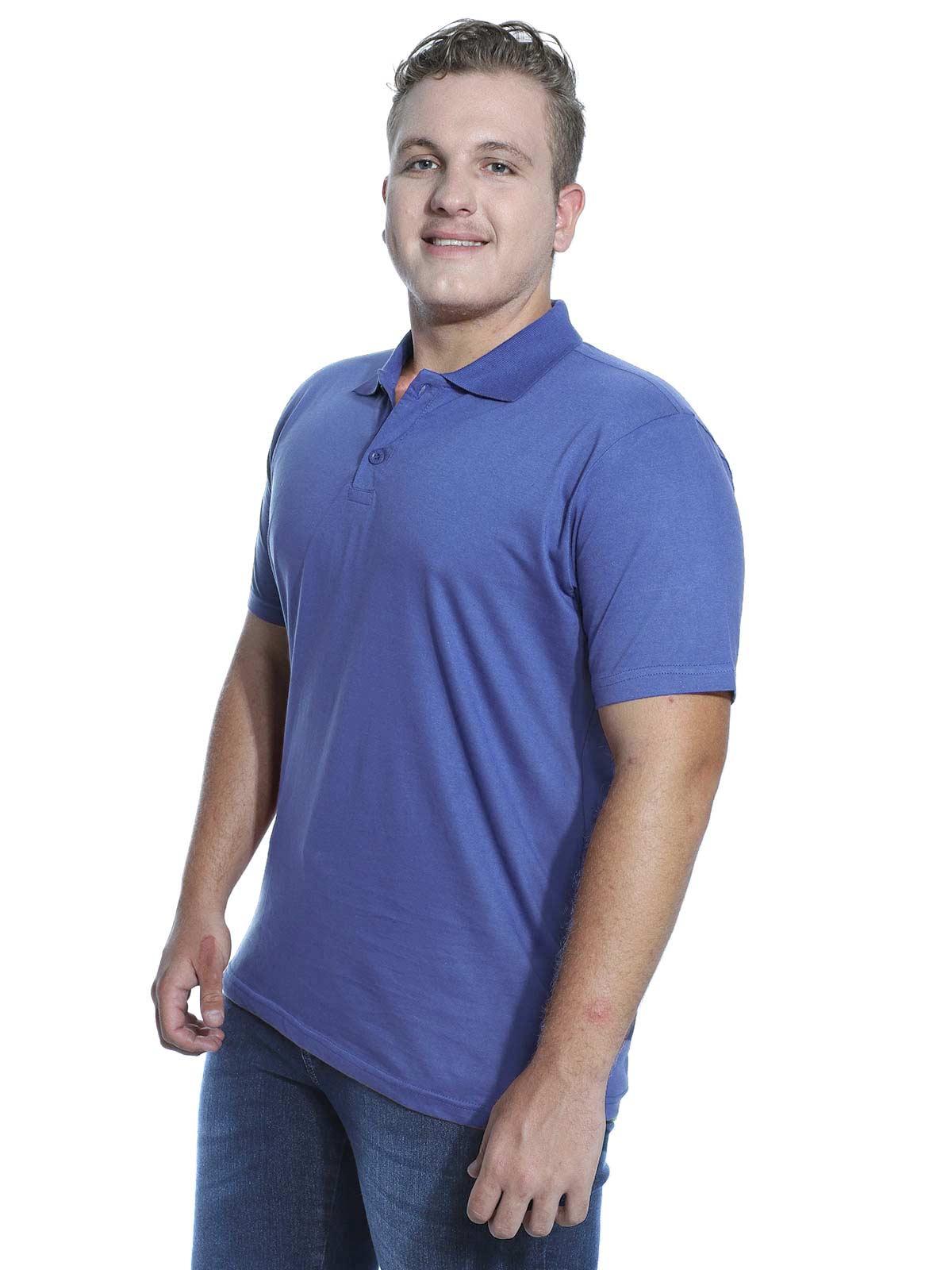 Camisa Polo Básica Lisa Anistia Azul Indigo