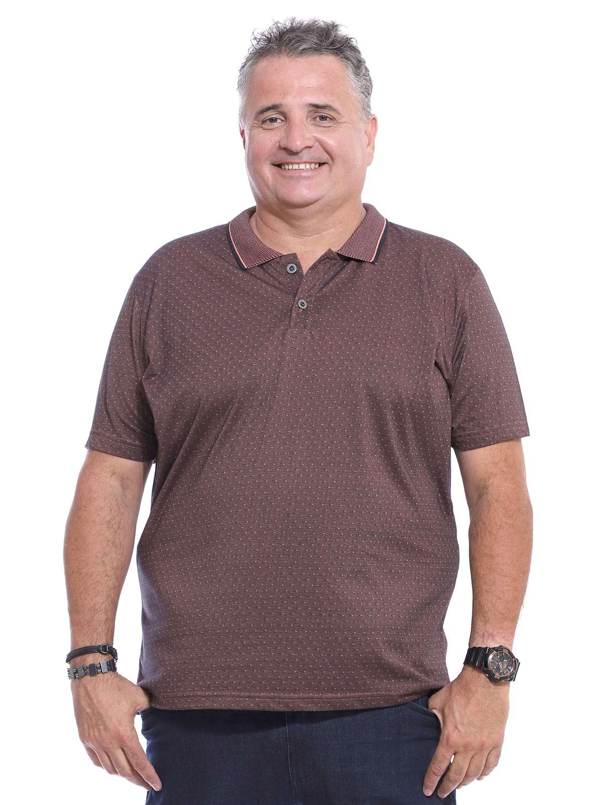 Camisa Polo Plus Size Jacquard Regente - furta cor preto