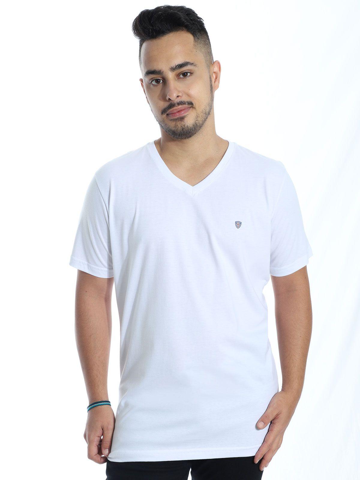 Camiseta Anistia Básica Decote V. Kingdom Branco