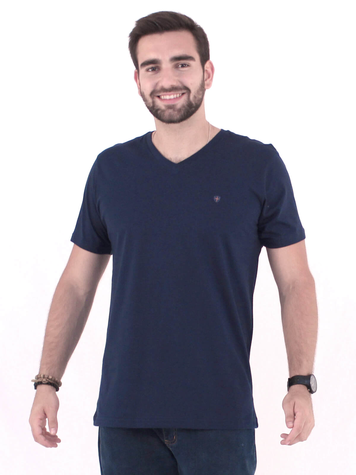 Camiseta Anistia Básica Decote V. Kingdom Marinho