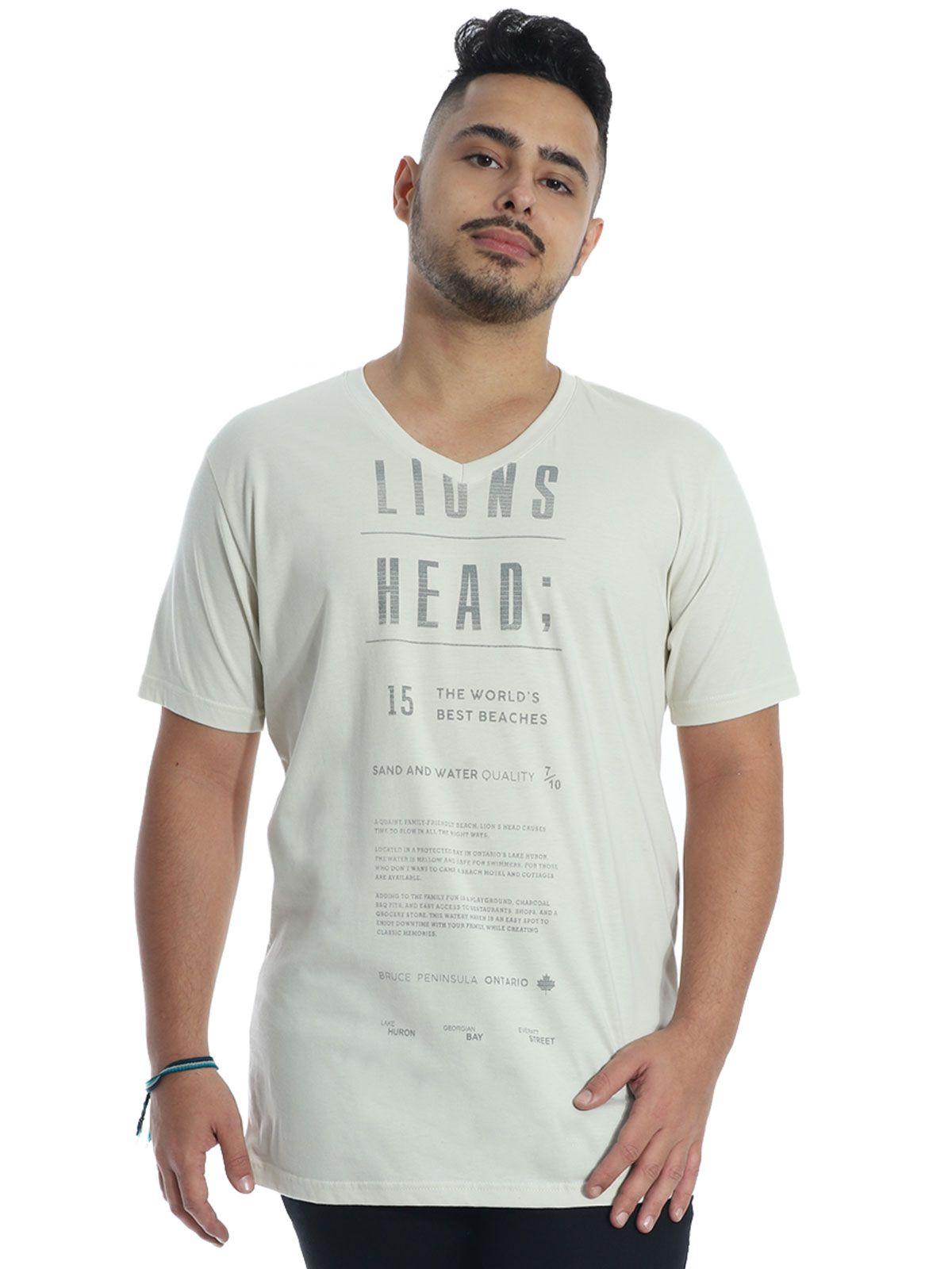 Camiseta Anistia Básica Decote V. Lions Areia