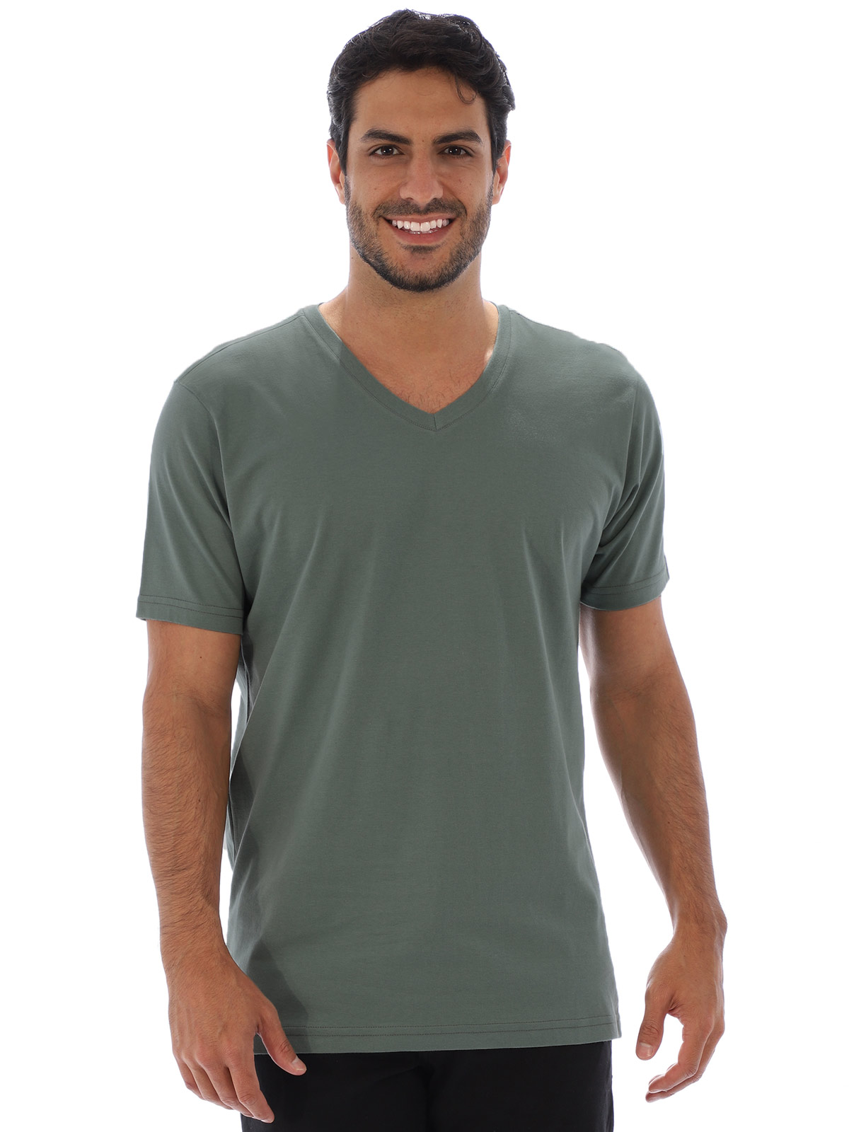 Camiseta Anistia Basica Decote V. Lisa Concreto