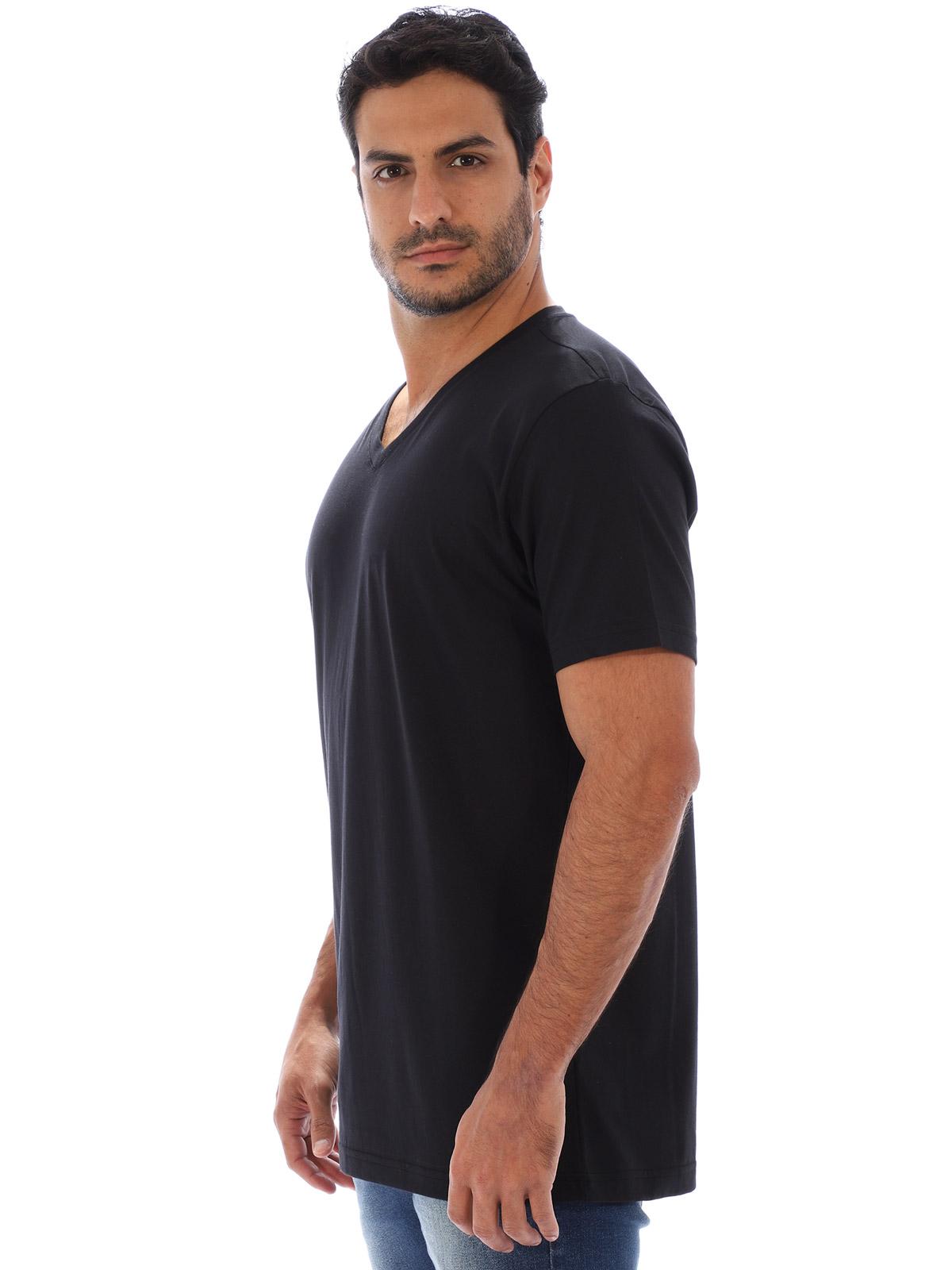 Camiseta Anistia Basica Decote V. Lisa Preto