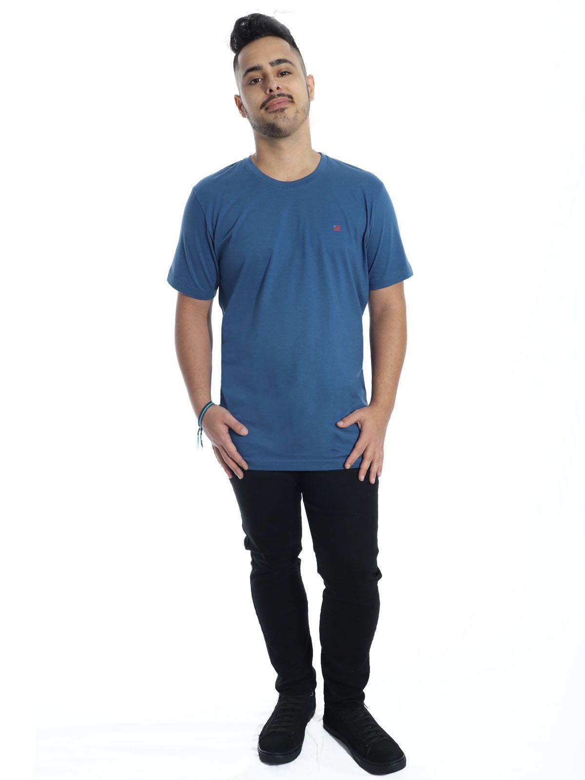 Camiseta Anistia Básica Flag Jeans