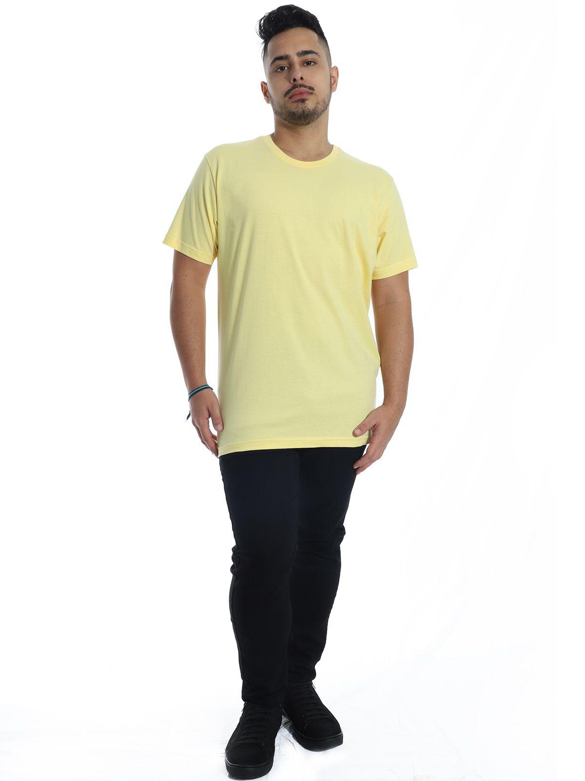 Camiseta Anistia Básica Lisa Amarelo