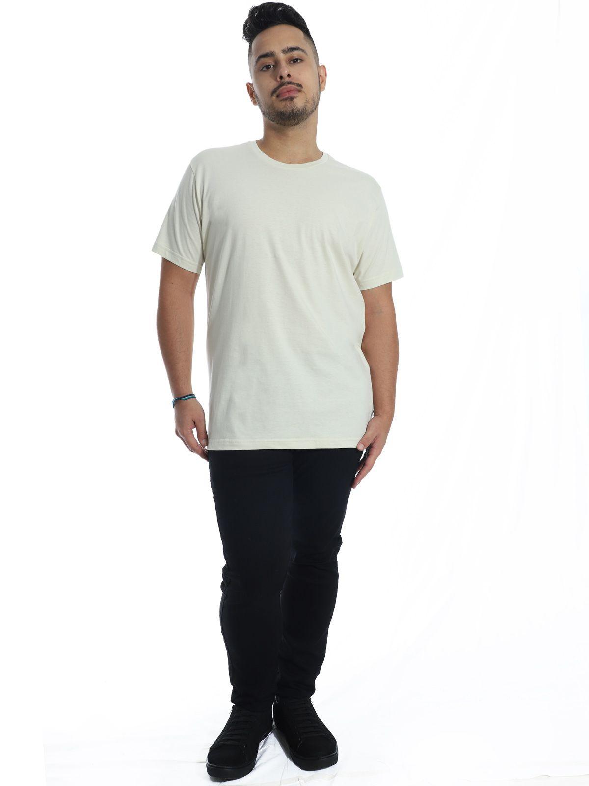 Camiseta Anistia Básica Lisa Areia