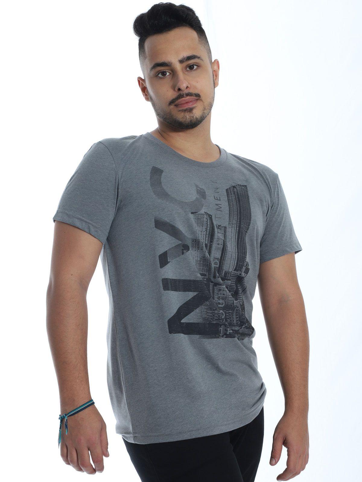 Camiseta Masculina Básica Anistia Stoned Asfalto