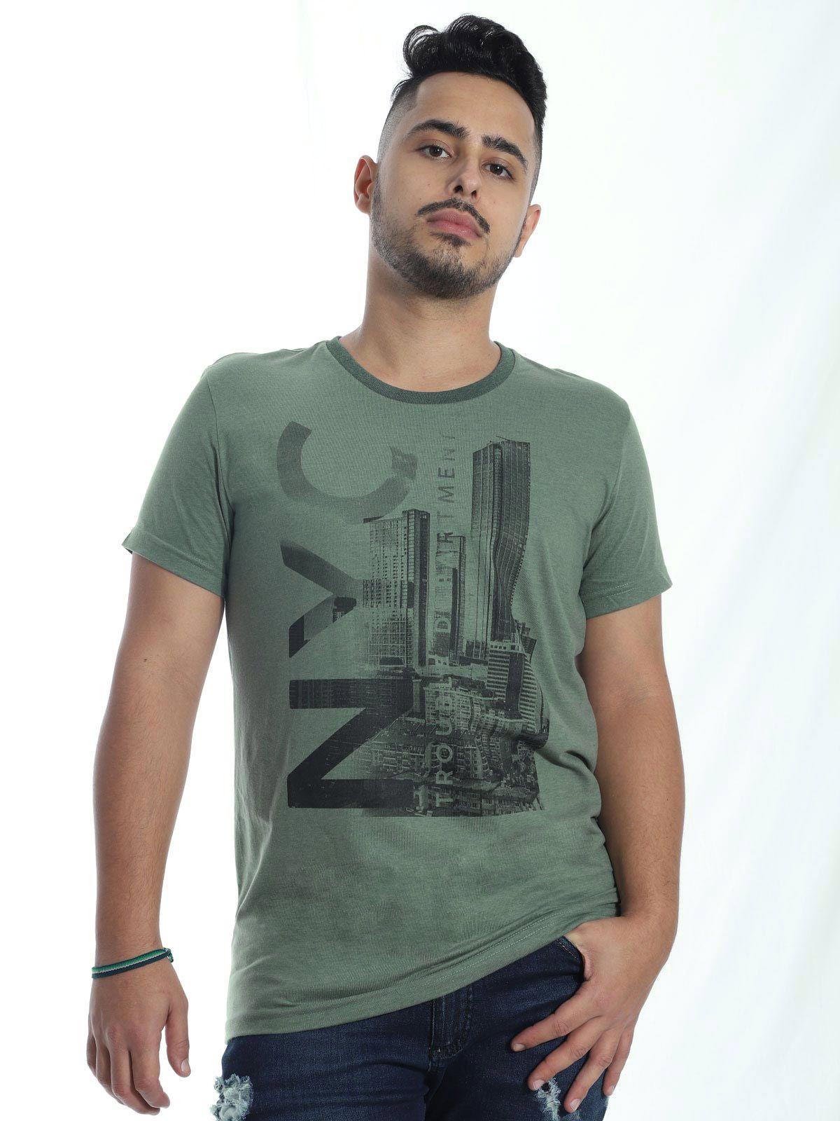 Camiseta Masculina Básica Anistia Stoned Militar