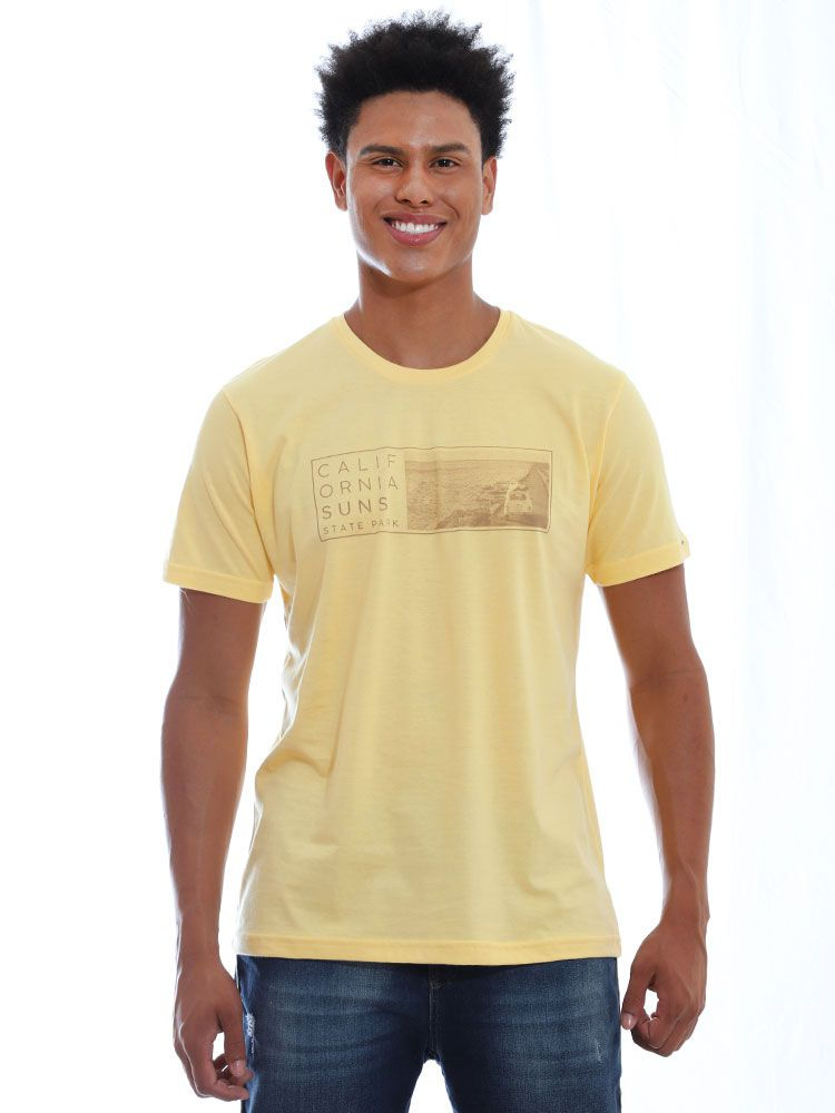 Camiseta Anistia Básica Suns Amarelo