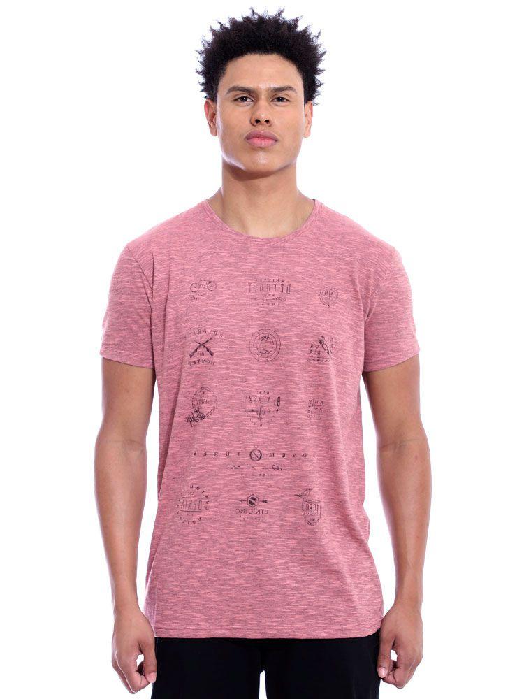 Camiseta Anistia Básica Tweed Brand Coral