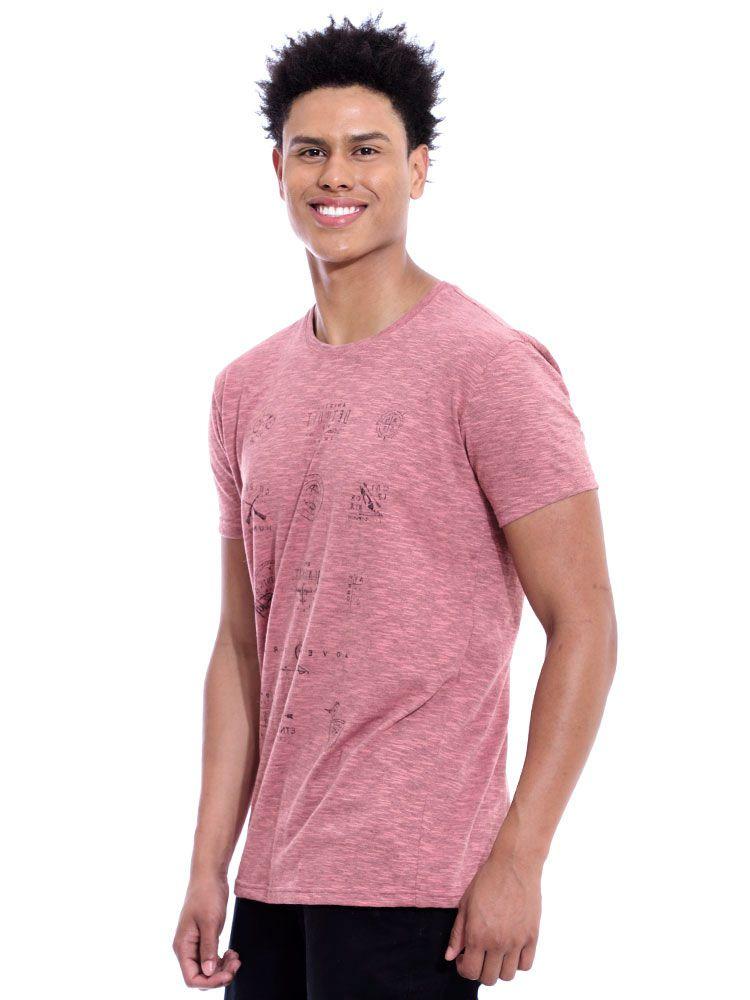 Camiseta Masculina Básica Tweed Brand Anistia Coral