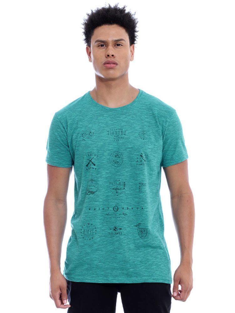 Camiseta Masculina Básica Tweed Brand Anistia Verde