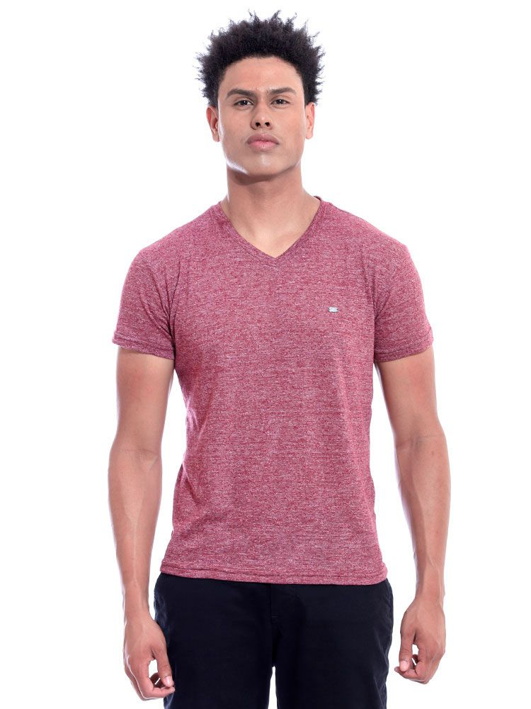 Camiseta Anistia Decote V. Granite Bordo