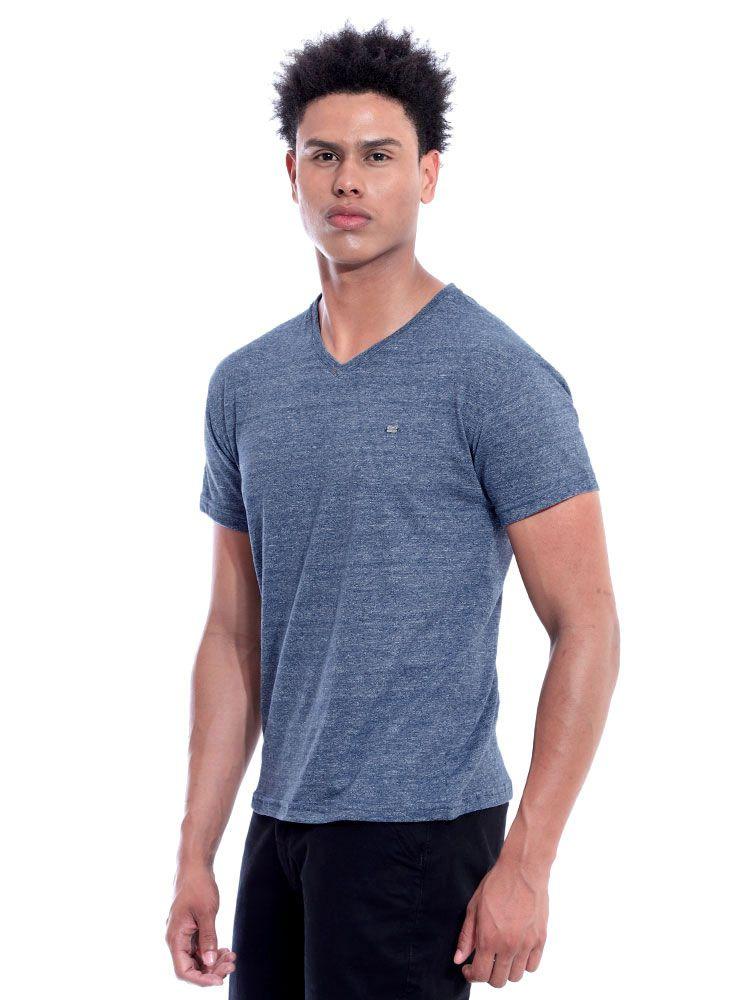 Camiseta Anistia Decote V. Granite Marinho