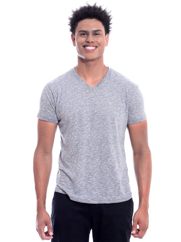 Camiseta Anistia Decote V. Granite Mescla