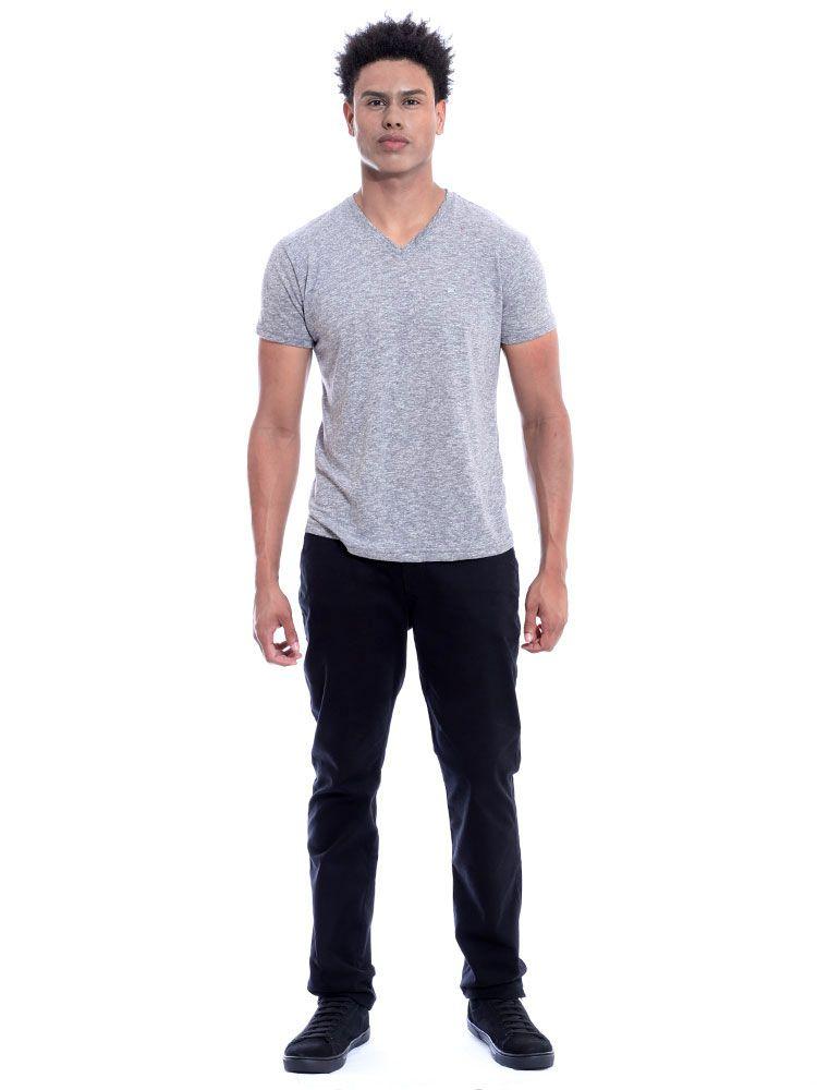 Camiseta Masculina Decote V. Granite Anistia Mescla