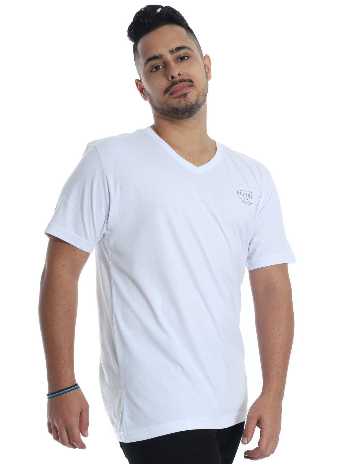 Camiseta Anistia Decote V. Vintage Branco