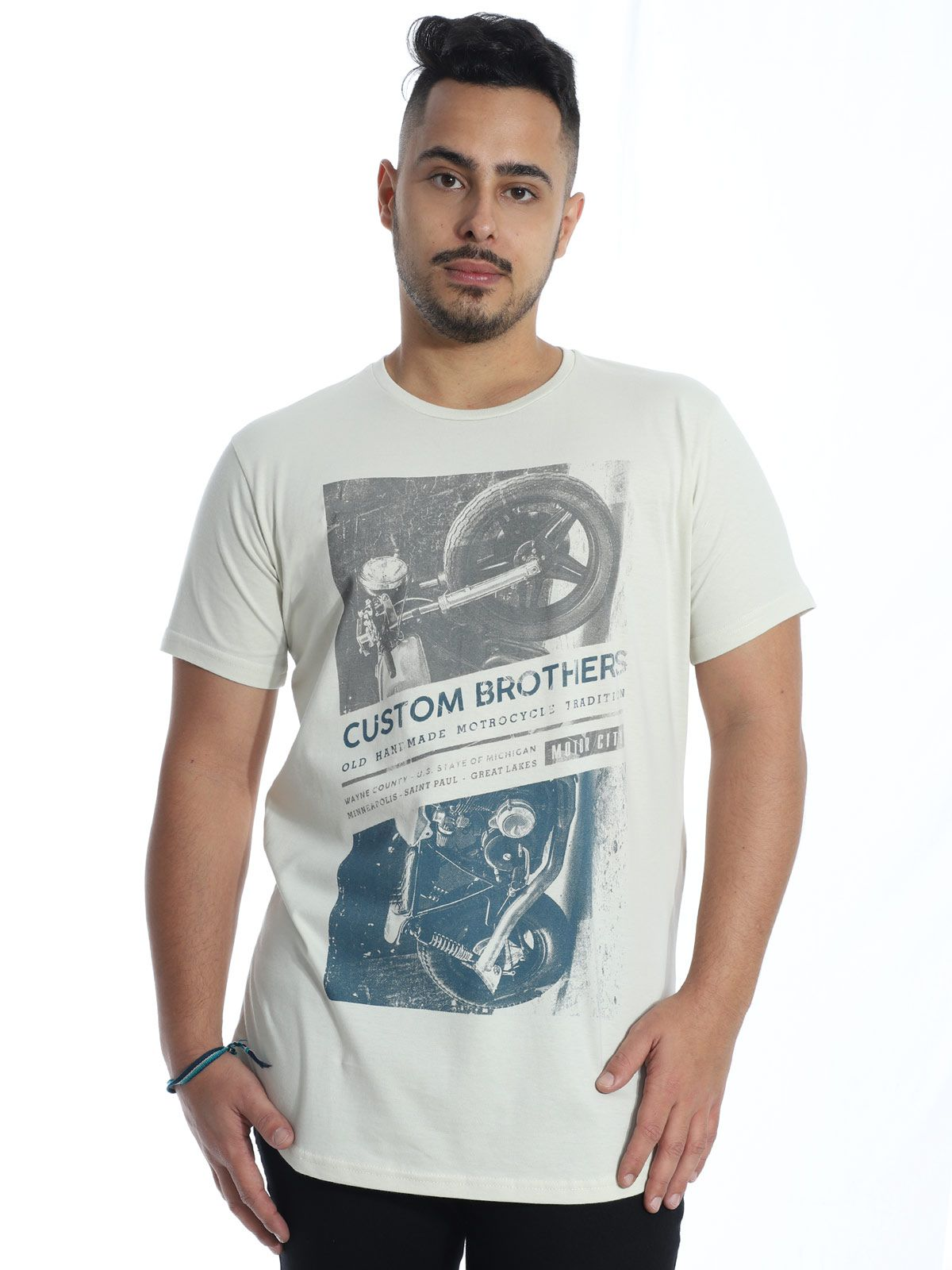 Camiseta Anistia Longline Swag Custon Areia