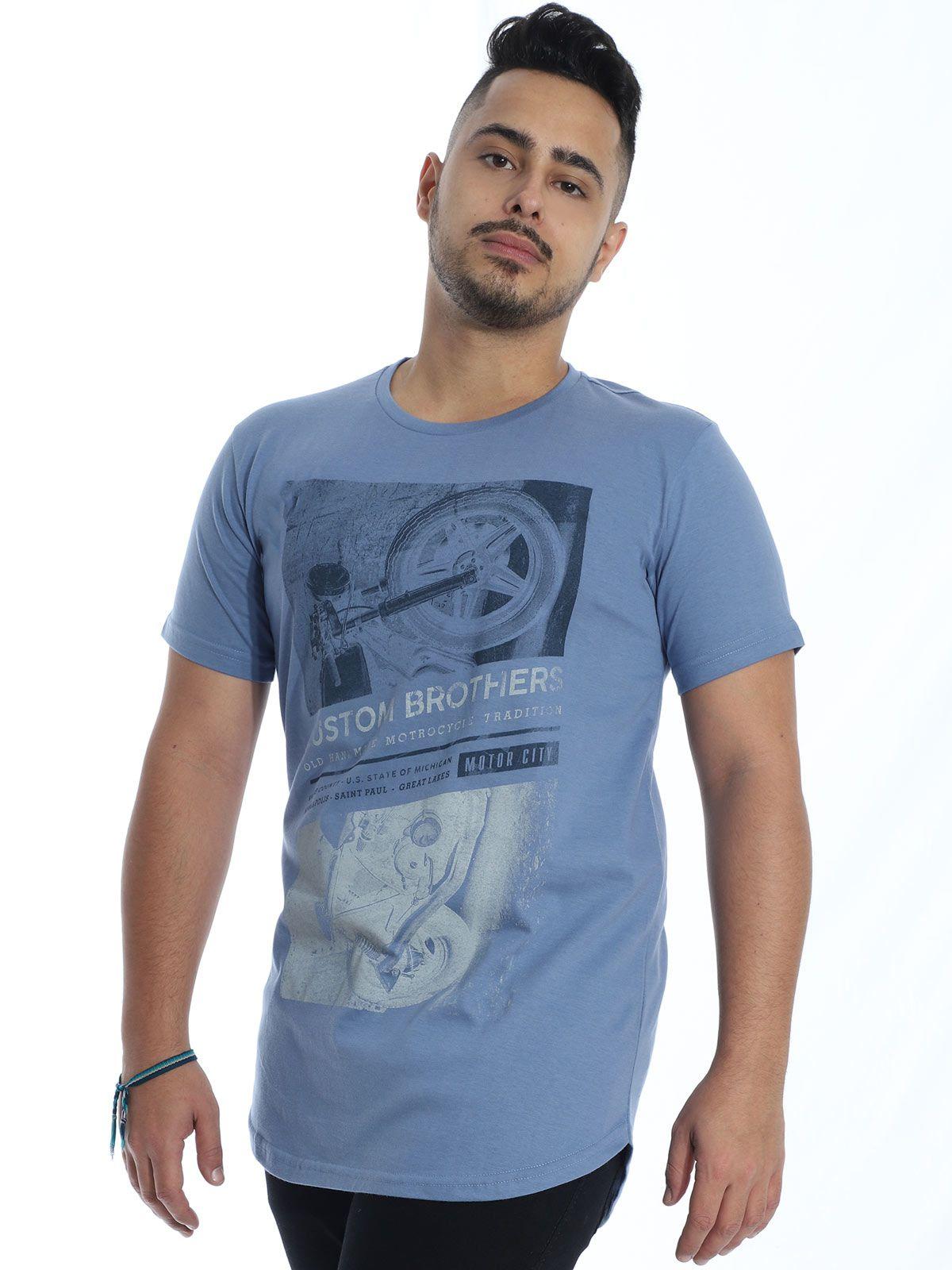 Camiseta Anistia Longline Swag Custon Indigo
