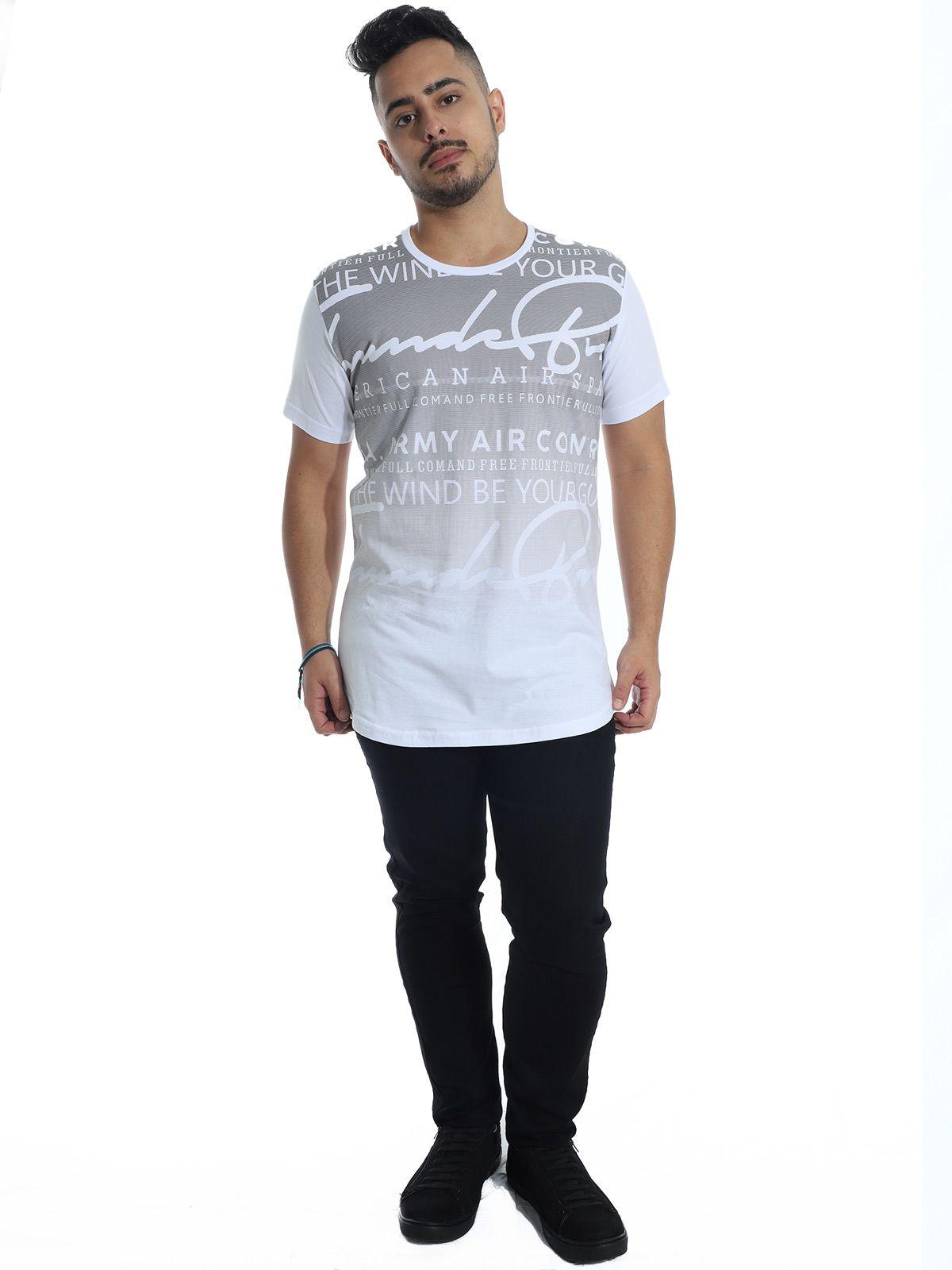 Camiseta Anistia Longline Swag Frontier Branco