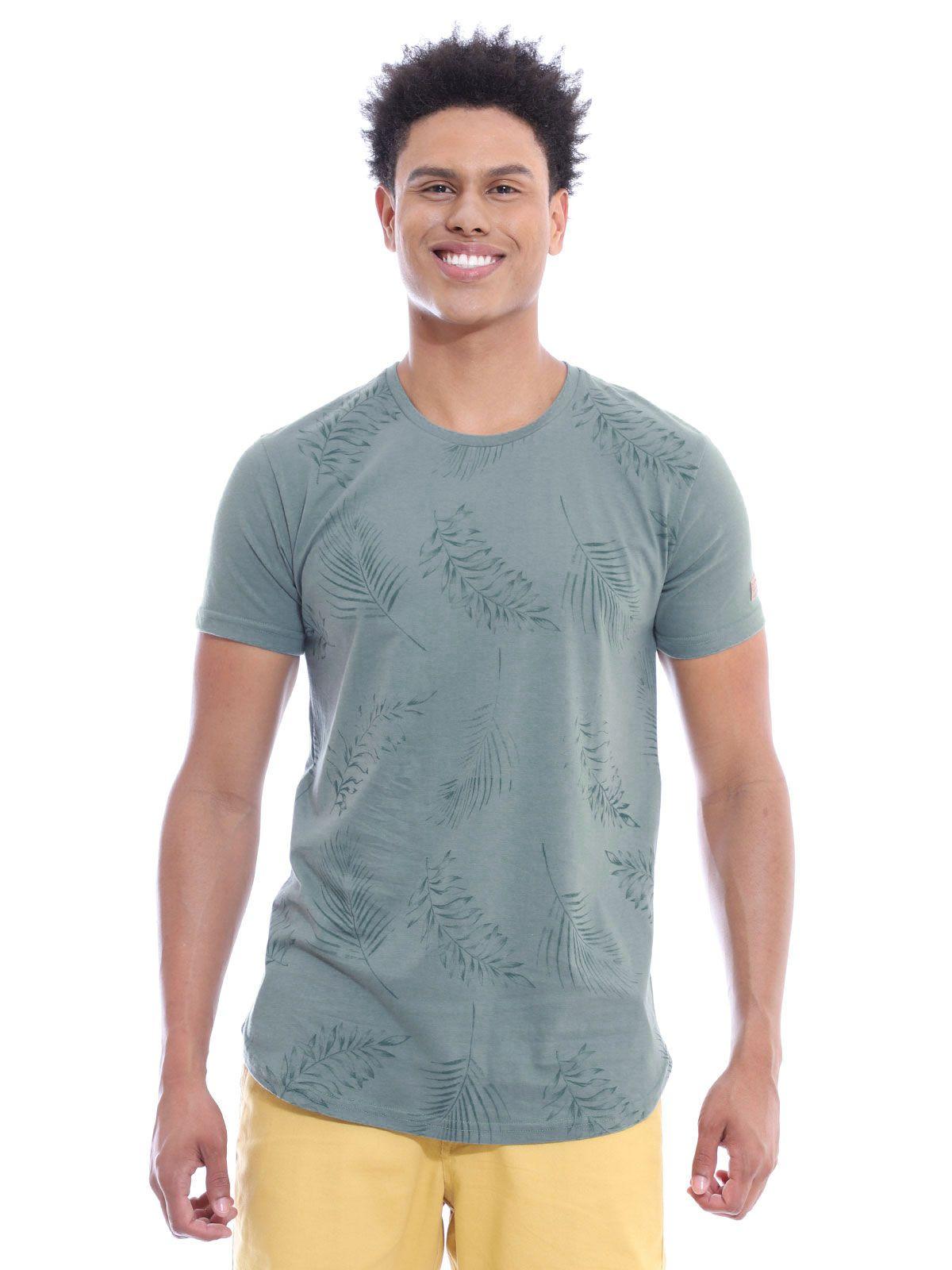 Camiseta Masculina Longline Swag Algodão Estampada Concreto
