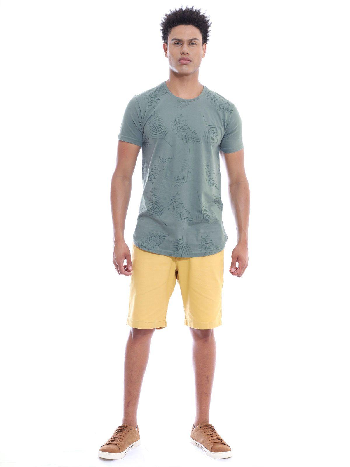 Camiseta Masculina Longline Swag Anistia Leafs Concreto