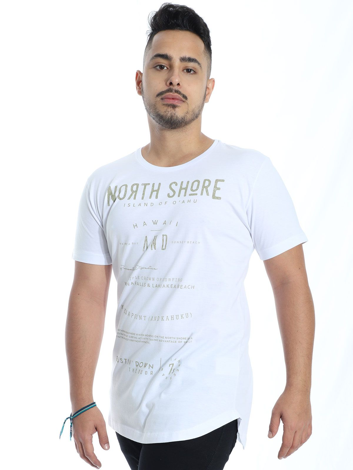 Camiseta Anistia Longline Swag North Shore Branco