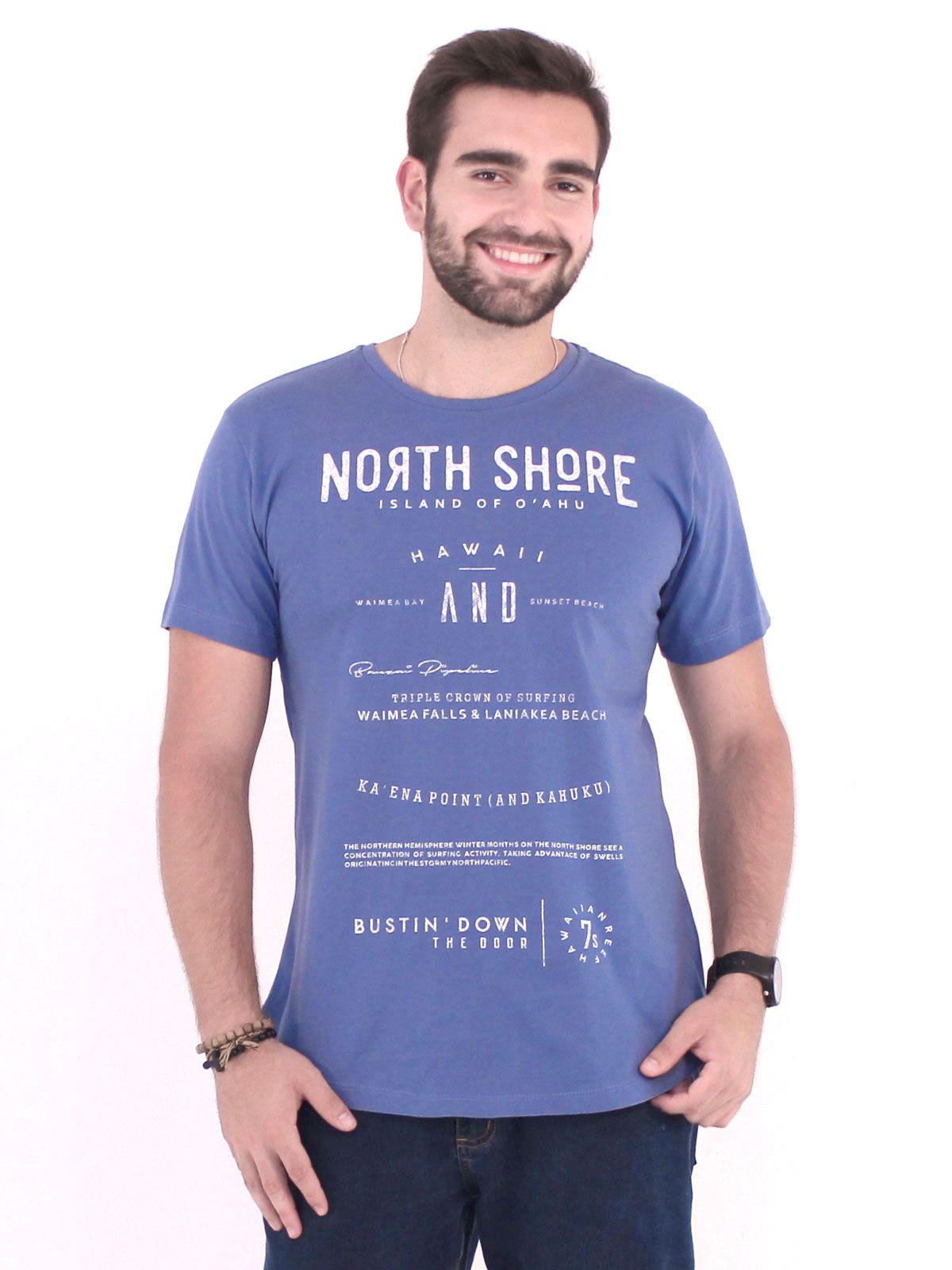 Camiseta Anistia Longline Swag North Shore Indigo