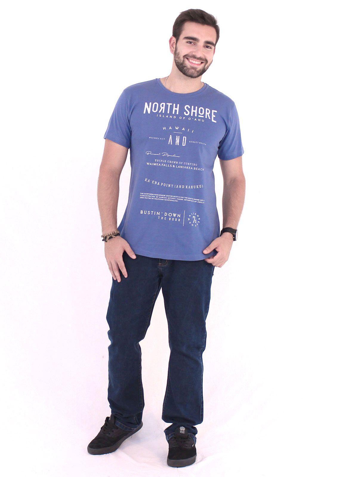 Camiseta Anistia Longline Swag North Shore Indigo