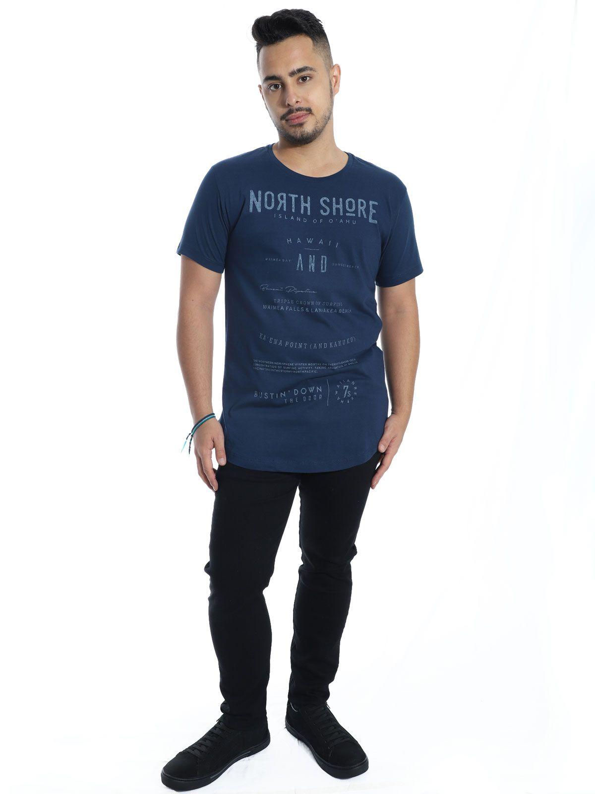 Camiseta Anistia Longline Swag North Shore Marinho