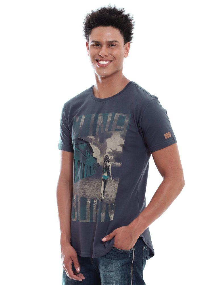 Camiseta Anistia Longline Swag Sun Burn Grafite