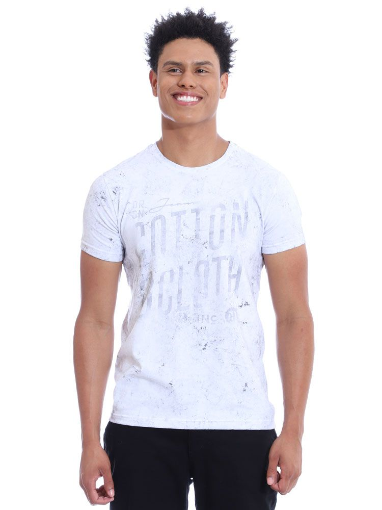 Camiseta Anistia Slim Fit Confort Stonada Branco