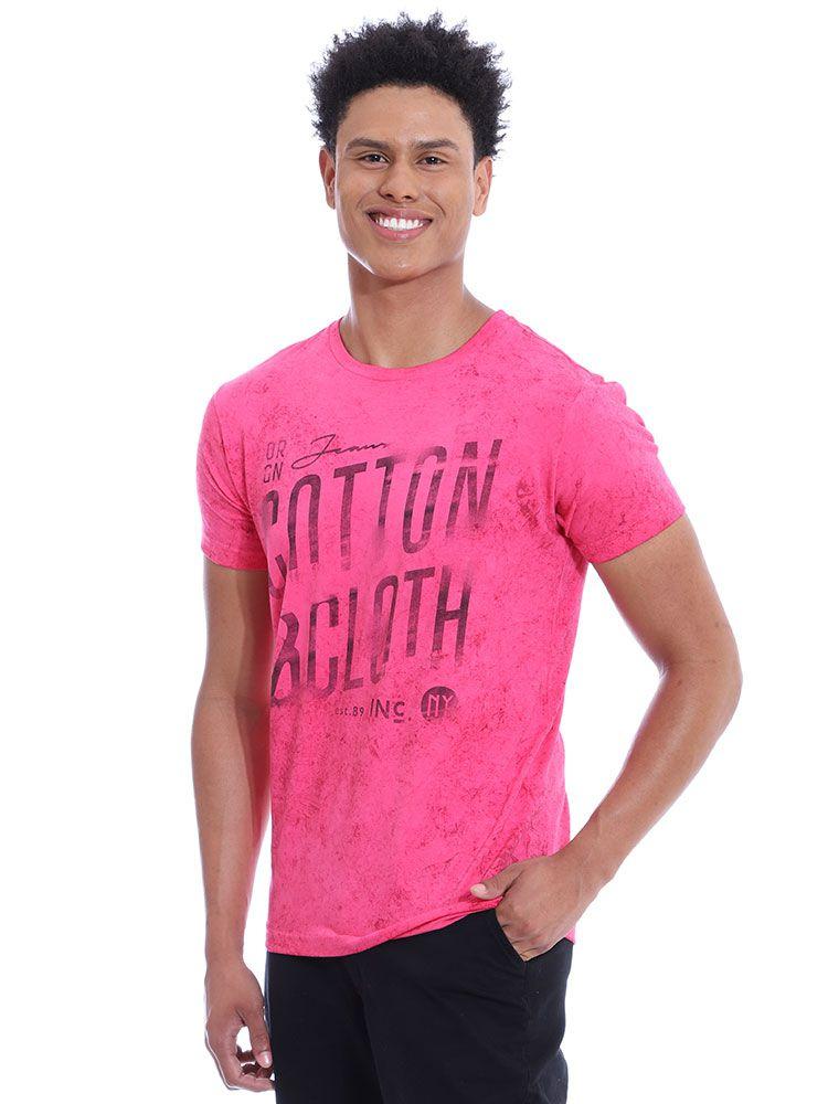 Camiseta Masculina Slim Fit Confort Stonada Anistia Chiclete