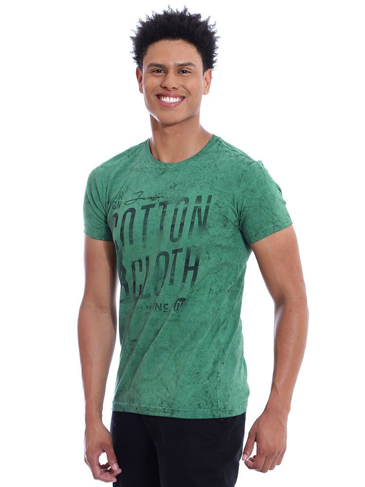 Camiseta Masculina Slim Fit Confort Stonada Anistia Musgo