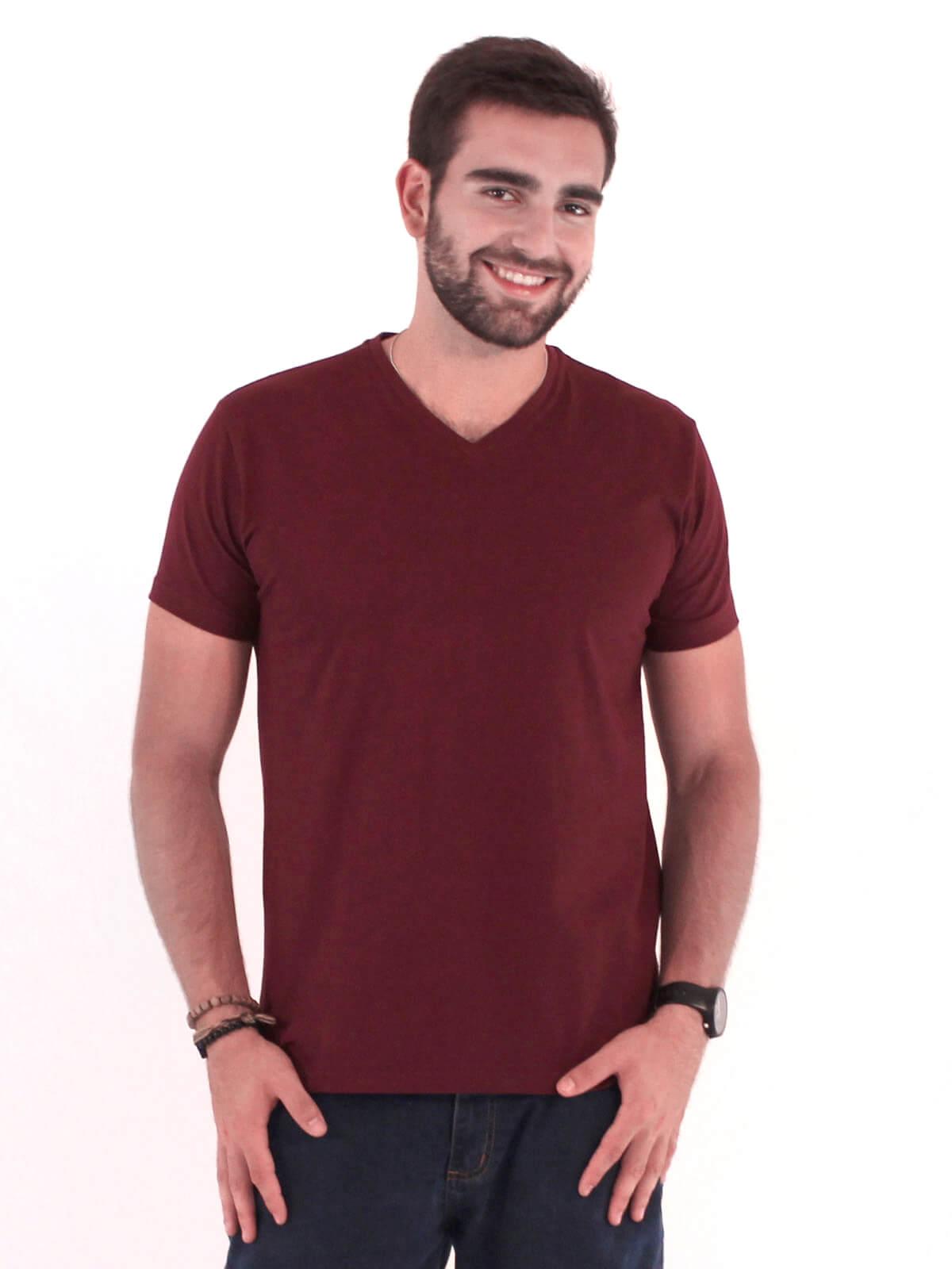 Camiseta Anistia Slim Fit Decote V. Lisa Bordo