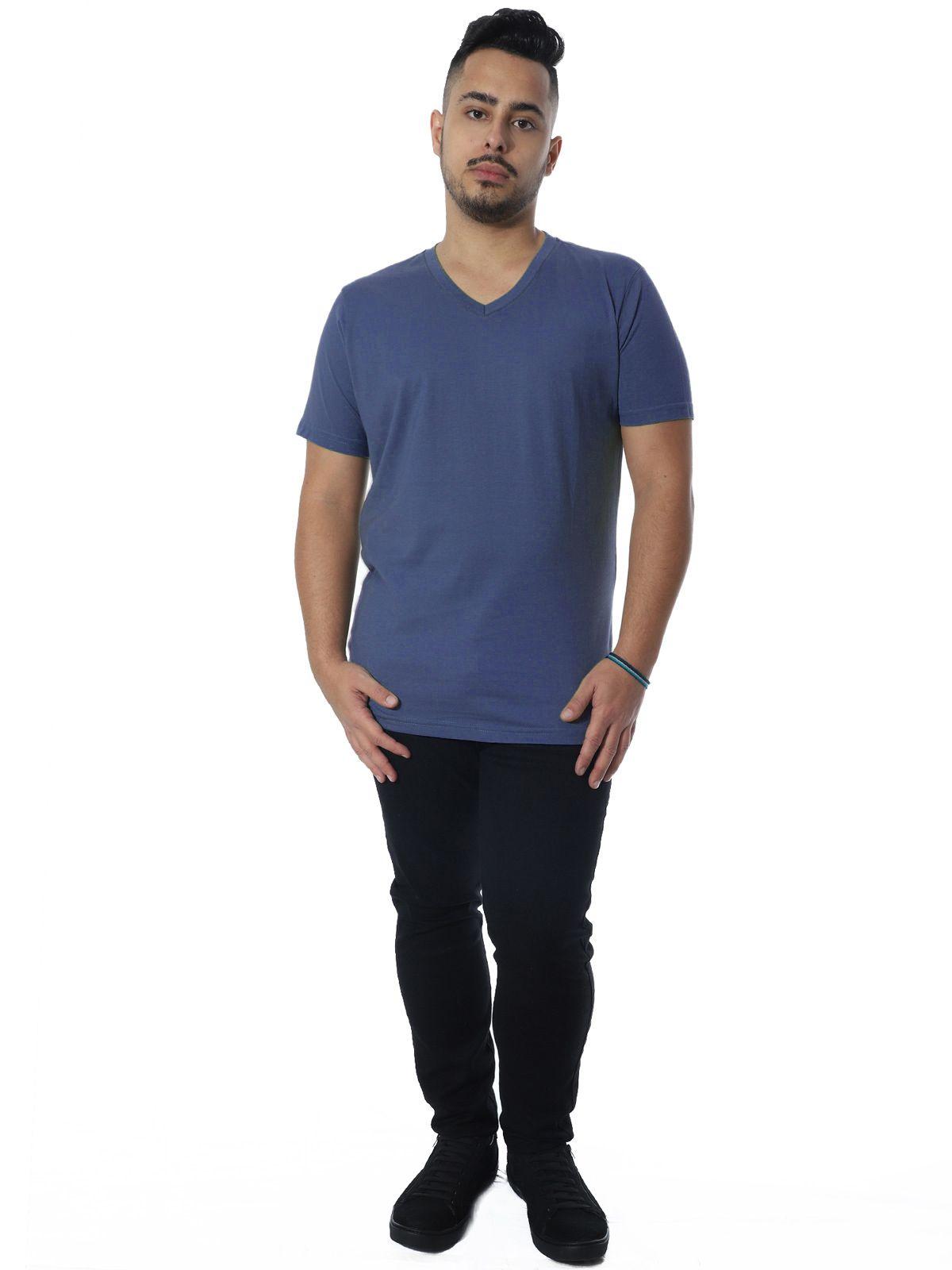 Camiseta Anistia Slim Fit Decote V. Lisa Jeans