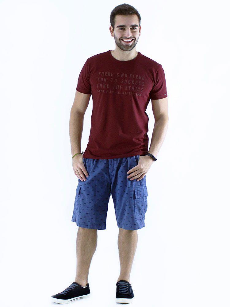 Camiseta Gola Careca Anistia Slim Fit Elevator Bordo