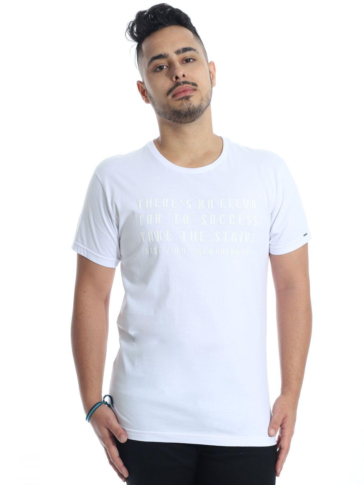 Camiseta Anistia Slim Fit Elevator Branca