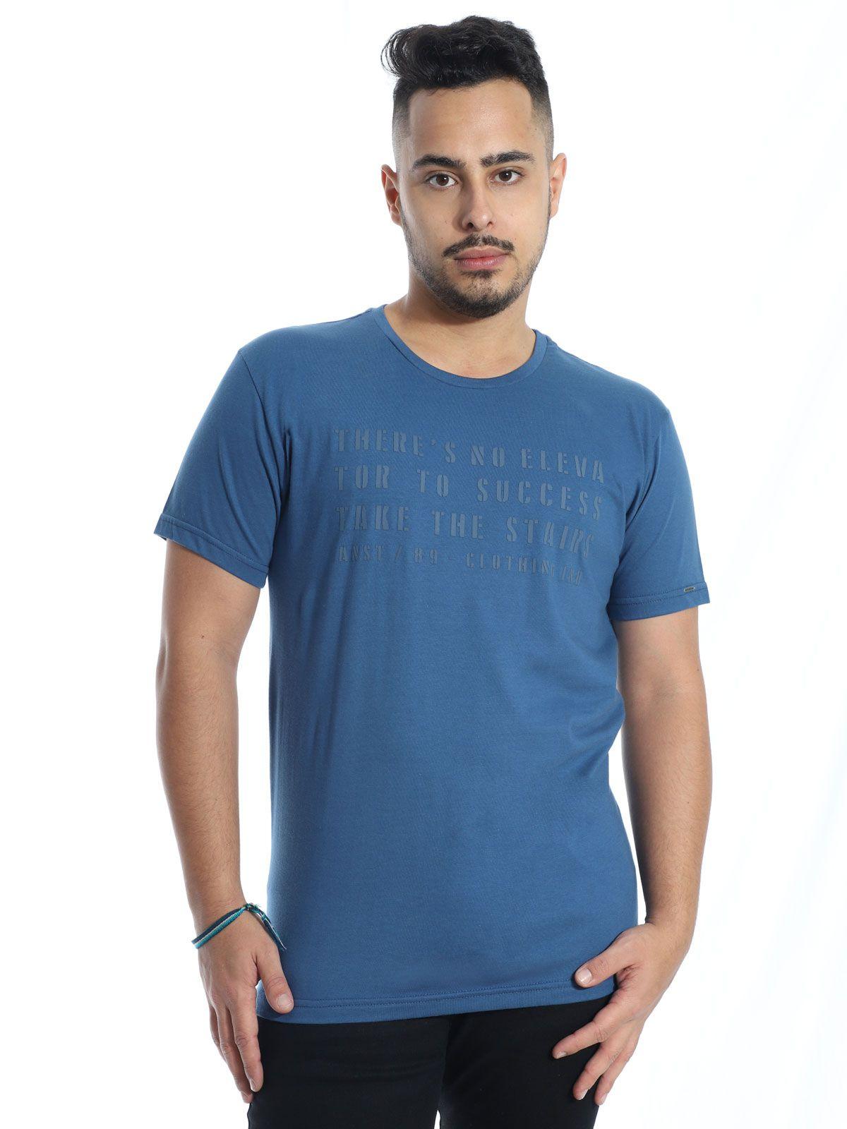 Camiseta Masculina Slim Fit Anistia Elevator Jeans