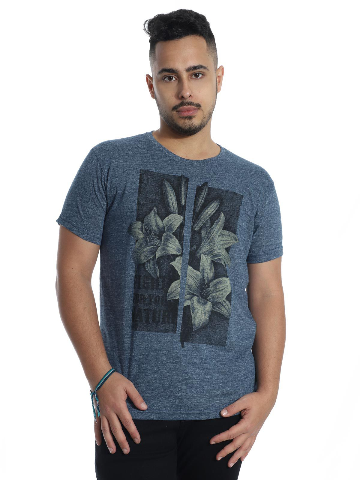 Camiseta Anistia Slim Fit Granite Azul
