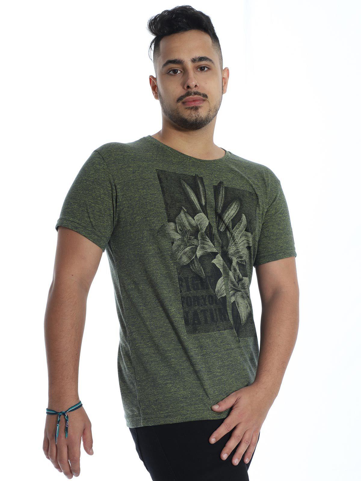 Camiseta Anistia Slim Fit Granite Verde
