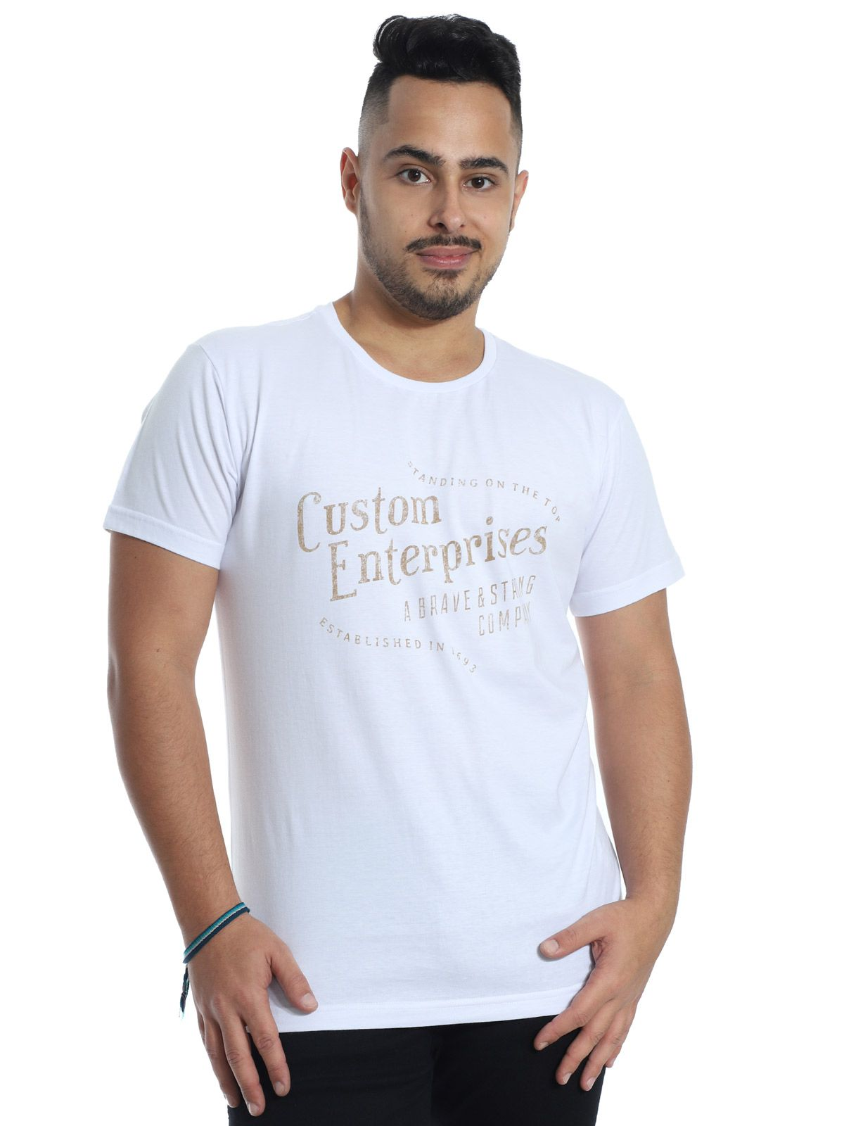 Camiseta Anistia Slim Fit Heaven Branco