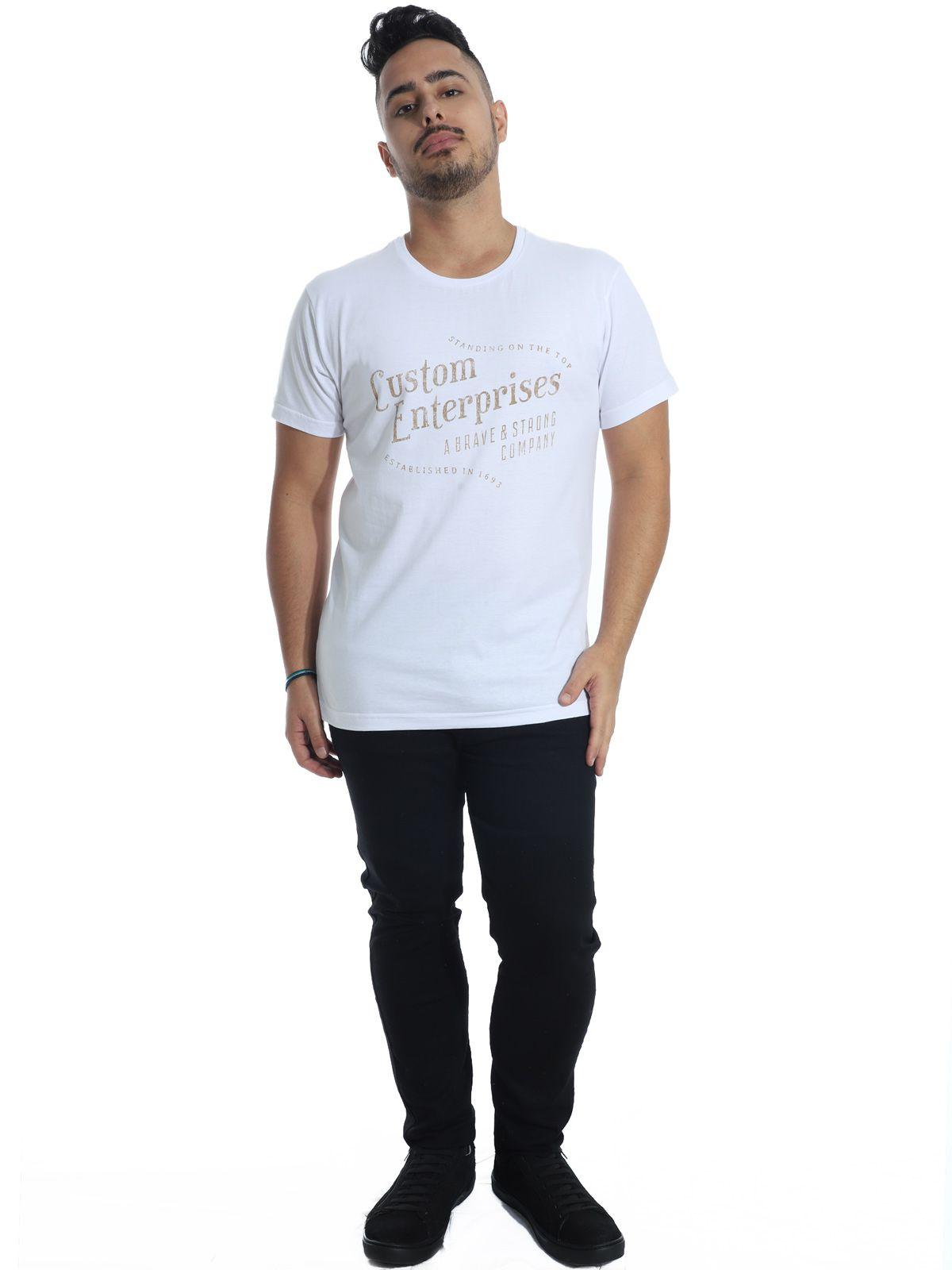 Camiseta Anistia Slim Fit Heaven Branco